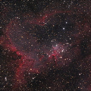 English: Melotte 15, the central star cluster ...