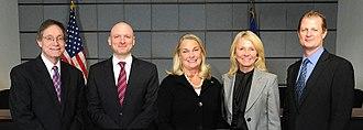 U.S. Consumer Product Safety Commission - Members of the U.S. Consumer Product Safety Commission in 2017: (Left to Right) Robert Adler, Elliot Kaye, Ann Marie Buerkle, Marietta Robinson, and Joseph Mohorovic