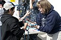 Members of the U.S. Naval Sea Cadet Corps demonstrate knot tying.jpg