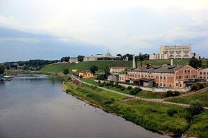 Die Memel in Hrodna, Weißrussland