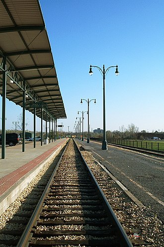 Memphis Central Station - Today the station has just a single platform