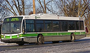 Transportation in Memphis, Tennessee - MATA bus in Memphis, December 2004.