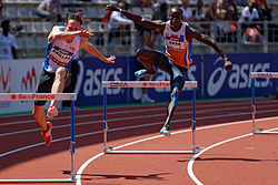 Men 400 m hurdles French Athletics Championships 2013 t150437.jpg