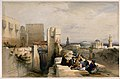 Men sitting to smoke by the citadel of Jerusalem. Coloured l Wellcome V0019270.jpg