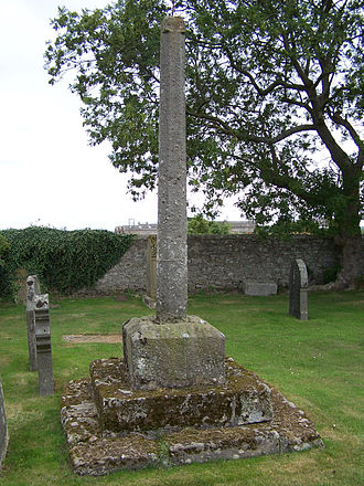 Lossiemouth - The mercat cross for Kinneddar village. Unknown age.