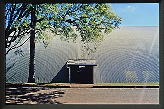 Merriland Hall - Side view of the igloo, 1998