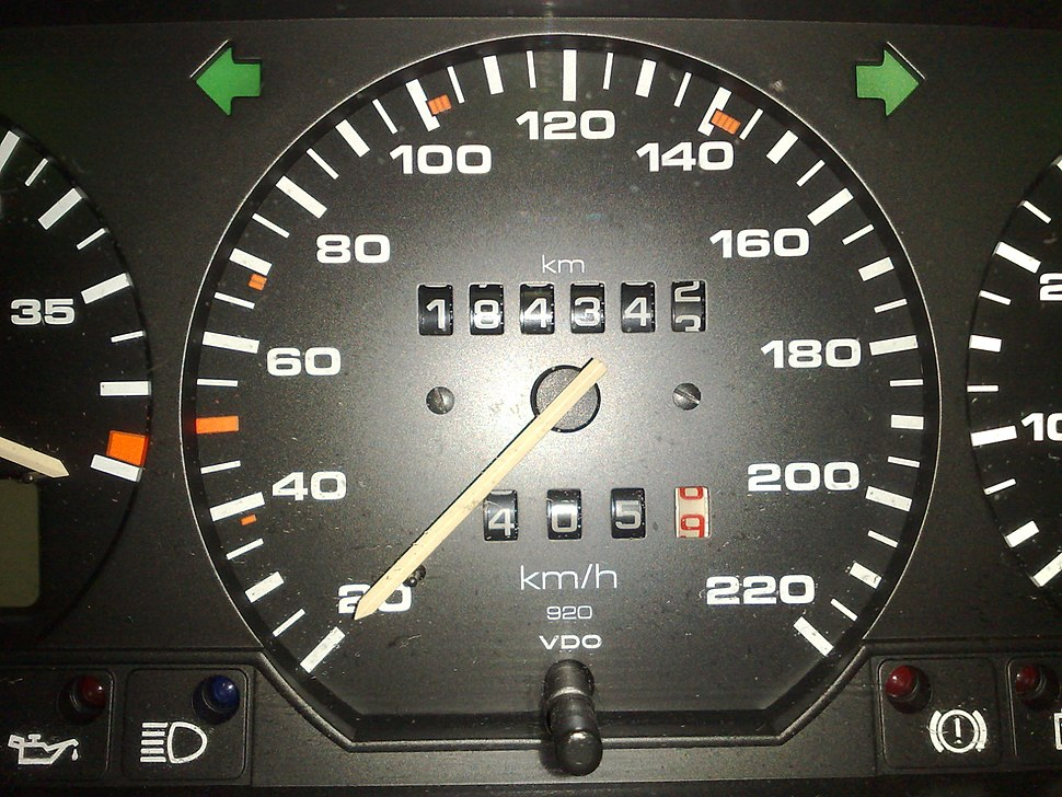 Metric speedometer from a 1992 Euro-spec Passat B3
