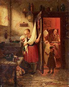 Johann georg meyer kinder beim blinde kuh spiel 19 jahrhundert