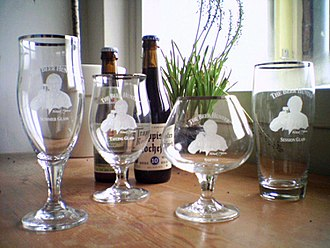 Beer glassware - Beer glassware (from left to right): summer glass, tasting glass, snifter, session glass