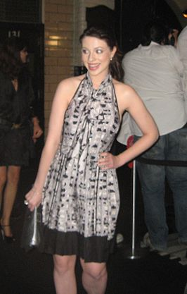 Michelle Trachtenberg tijdens Fashion Week (2007)