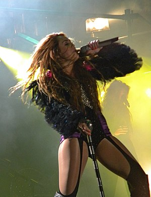 "Can't Be Tamed (song) - Cyrus performing ""Can't Be Tamed"" during the Gypsy Heart Tour"