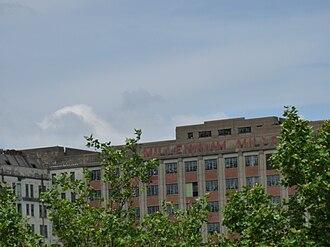 Millennium Mills - Millennium Mills frontage in 2009