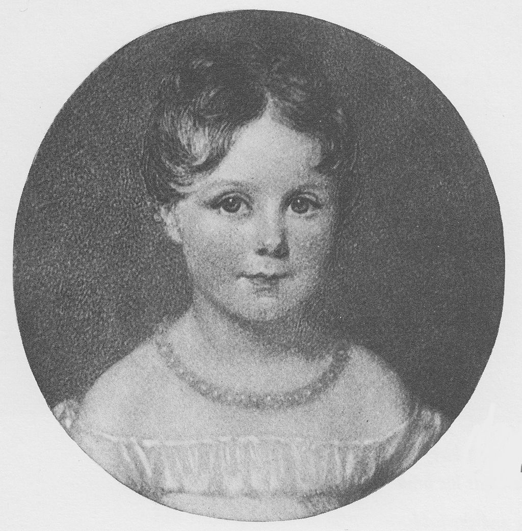 Ada Byron at age four, from a miniature in a locket sent to Lord Byron by his sister.