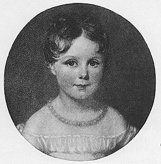 Ada Lovelace - Ada Byron, aged four