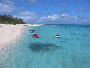 Motobu, Okinawa - Minnajima Beach on the island of Minnajima in Motobu