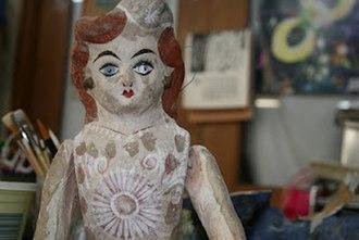 Cartonería - Cartonería doll from second half of 20th century