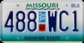 Missouri sub-6,000 lb truck license plate, July 2008.png