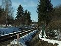 Mníšek pod Brdy, nádraží, železniční trať do Dobříše.JPG