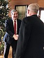 Moe Davis, Democratic for congress NC-11, meets with Roy Cooper at Governor's open house event.jpg