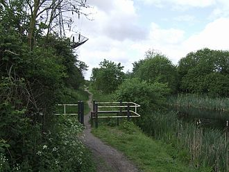 Monarch's Way - Monarch's Way following the towpath of the Anson Branch Canal