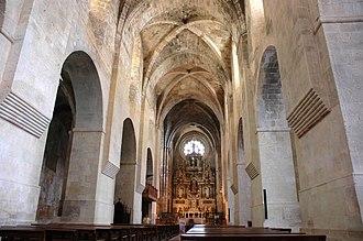 Santes Creus - Interior of the church.