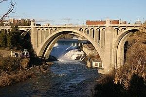 Monroe Street Bridge (Spokane River) - Image: Monroe Street Bridge 20070217