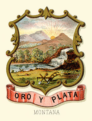 Montana Territory - Image: Montana territory coat of arms (illustrated, 1876)