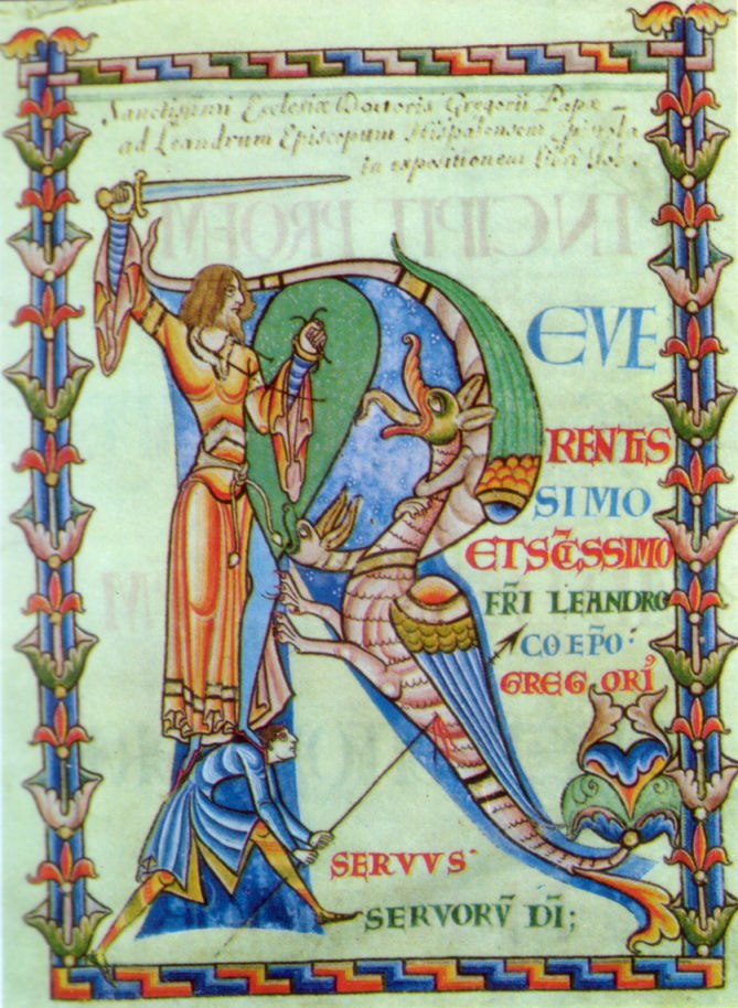 Moralia in Job MS dragonslayer
