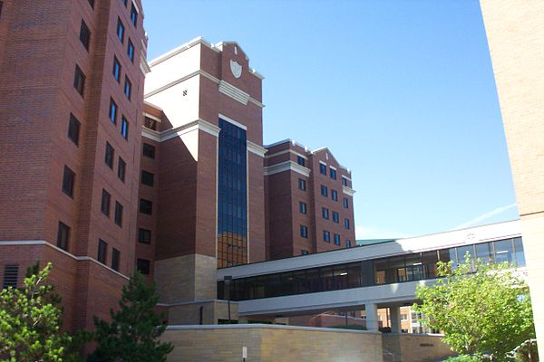 Morrison Hall is connected to Koch Commons with a skyway. Morrison Hall (Minnesota).JPG