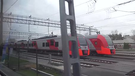 Файл:Moscow Ring Railway full trip - view from ES2G train.webm