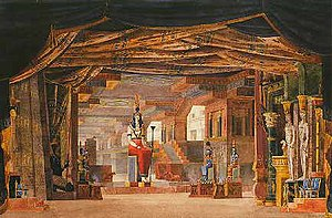 Mosè in Egitto - Scene for the third act in the 1827 production