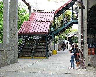 Mosholu Parkway (IRT Jerome Avenue Line) - Southwestern staircase