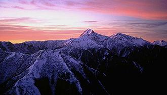 Akaishi Mountains - Image: Mount Kita from Mount Komatsu 1997 1 1