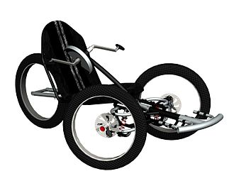 "Handcycle - An ""off road"" handcycle, designed in the Netherlands"