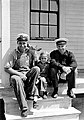 Mr. Albert Beyer, the lighthouse keeper on Destruction Island, his daughter, and Elmer Winbeck, skipper of the Coast Guard boat (5e95376f459343ed8ec8f3d9cbef038b).jpg