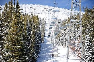 Mount Baldy Ski Area - Image: Mt Baldy tram panoramio (1)