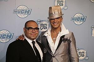Nolé Marin - Nolé Marin (left) with Jay Manuel (right)