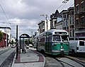 Muni 1053 at 17th and Castro, September 1999.jpg