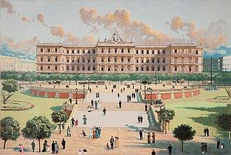 Buenos Aires - The Casa Rosada during the Argentina Centennial, 1910.