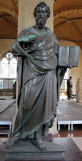 Saint Matthew (Ghiberti) - Image: Museo di orsanmichele, lorenzo ghiberti, san matteo 01