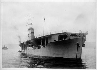 Merchant aircraft carrier - M/V Rapana, an oil tanker converted into a merchant aircraft carrier.  MACs were introduced to provide air cover for convoys until sufficient escort carriers became available to replace them.