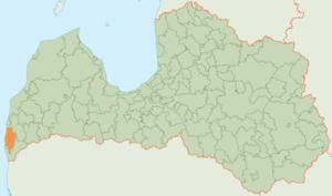 Nīca Municipality - Image: Nīcas novada karte