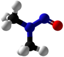N-Nitrosodimethylamine Ball and Stick.png
