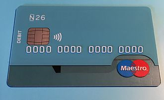Maestro (debit card) - Maestro card issued by the German N26 Bank