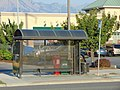 NB bus shelter on Redwood Rd West Valley, City, Utah, Aug 16.jpg