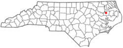 Location of Roper, North Carolina