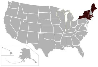 New England Small College Athletic Conference - Image: NESCAC USA states