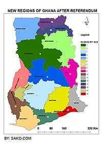 Regions Of Ghana Wikipedia