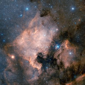 Xi Cygni - NGC 7000 (North America Nebula).  ξ Cygni is the bright star on the left.