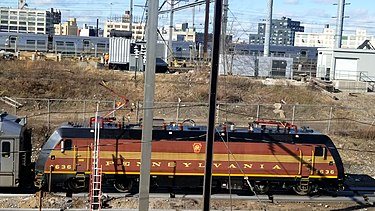NJ Transit #4636 NJT No. 4636, dressed in PRR's color, got washed at Sunnyside Yard Loop.jpg